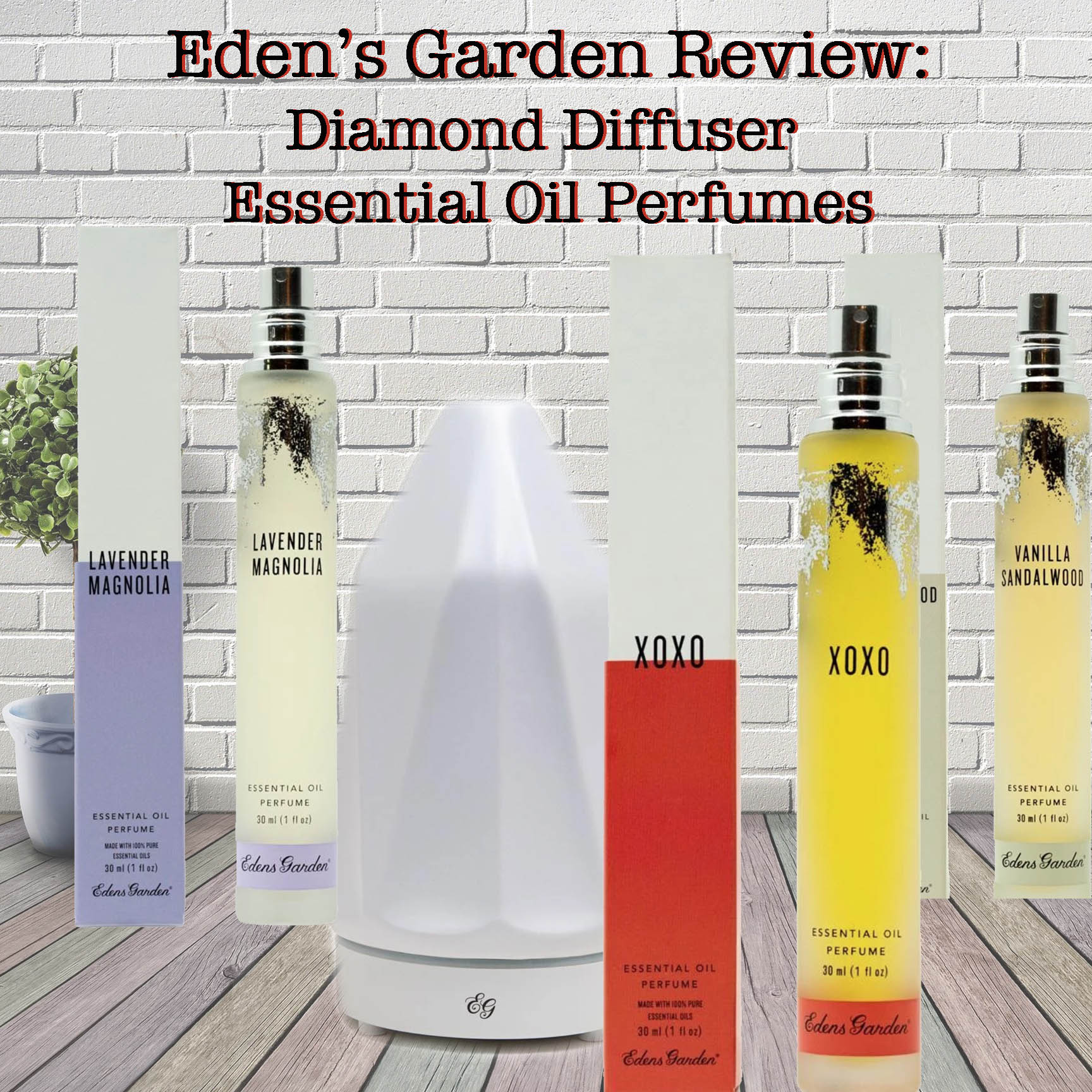 Eden S Garden Essential Oil Perfumes And Ceramic Diamond Diffuser Review Sweet Honeybee Health